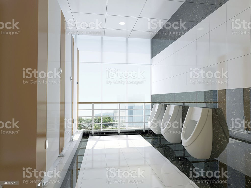3d public bathroom royalty-free stock photo