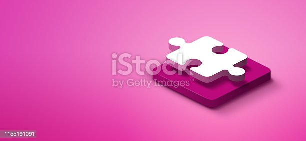 1155191162istockphoto 3d puzzle piece on pink abstract background 1155191091