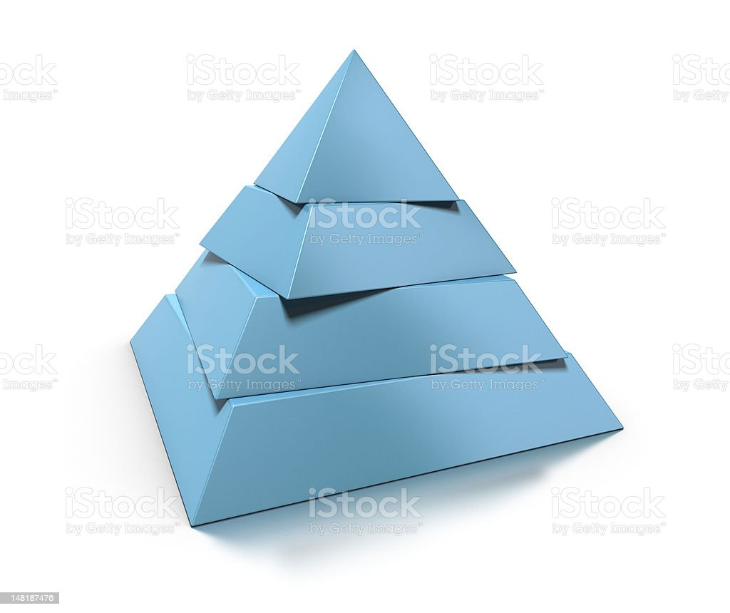 3d pyramid shape stock photo
