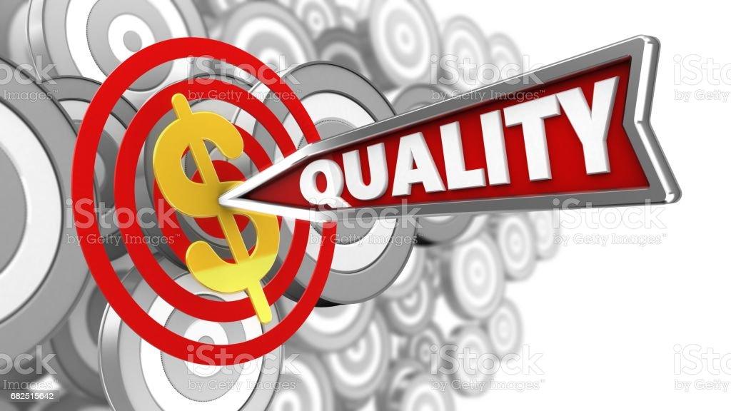 3d quality arrow royalty-free stock photo