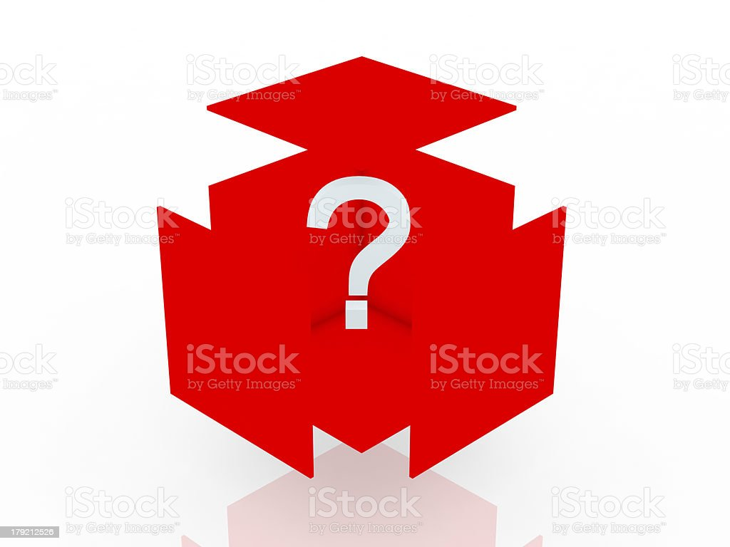 3d Question Box royalty-free stock photo