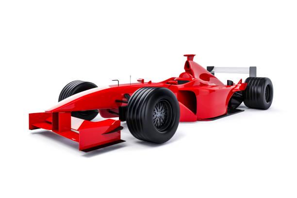흰색 배경에 3 차원 자동차 경주 - formula 1 뉴스 사진 이미지