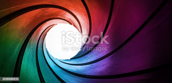 istock 3d rainbow colored abstract frame barrel tube 508968835