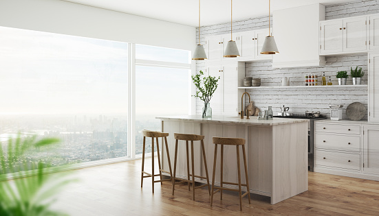 3d realistic modern kitchen