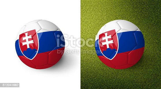 992854608 istock photo 3d realistic soccer ball with the flag of Slovakia. 512041662