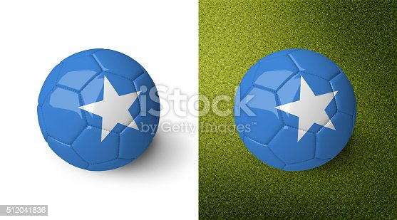 992854608 istock photo 3d realistic soccer ball with the flag of Somalia. 512041836