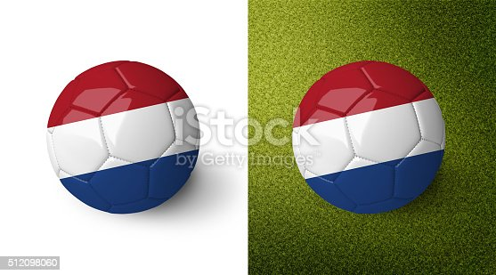 992854608 istock photo 3d realistic soccer ball with the flag of the Netherlands. 512098060