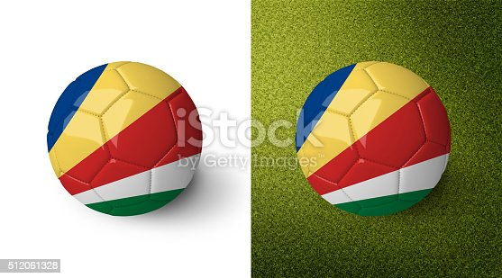 992854608 istock photo 3d realistic soccer ball with the flag of the Seychelles. 512061328