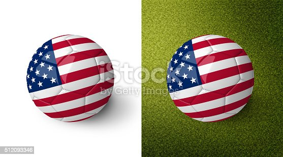 992854608 istock photo 3d realistic soccer ball with the flag of the USA. 512093346