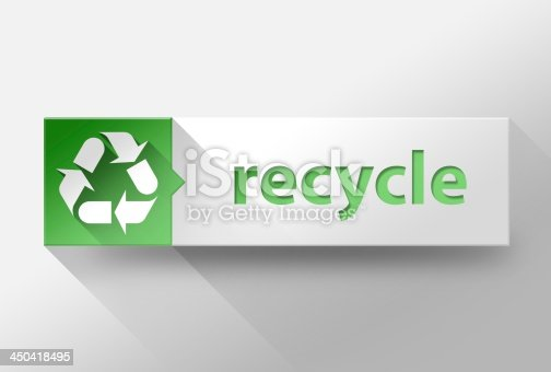 istock 3d Recycle flat design, illustration 450418495