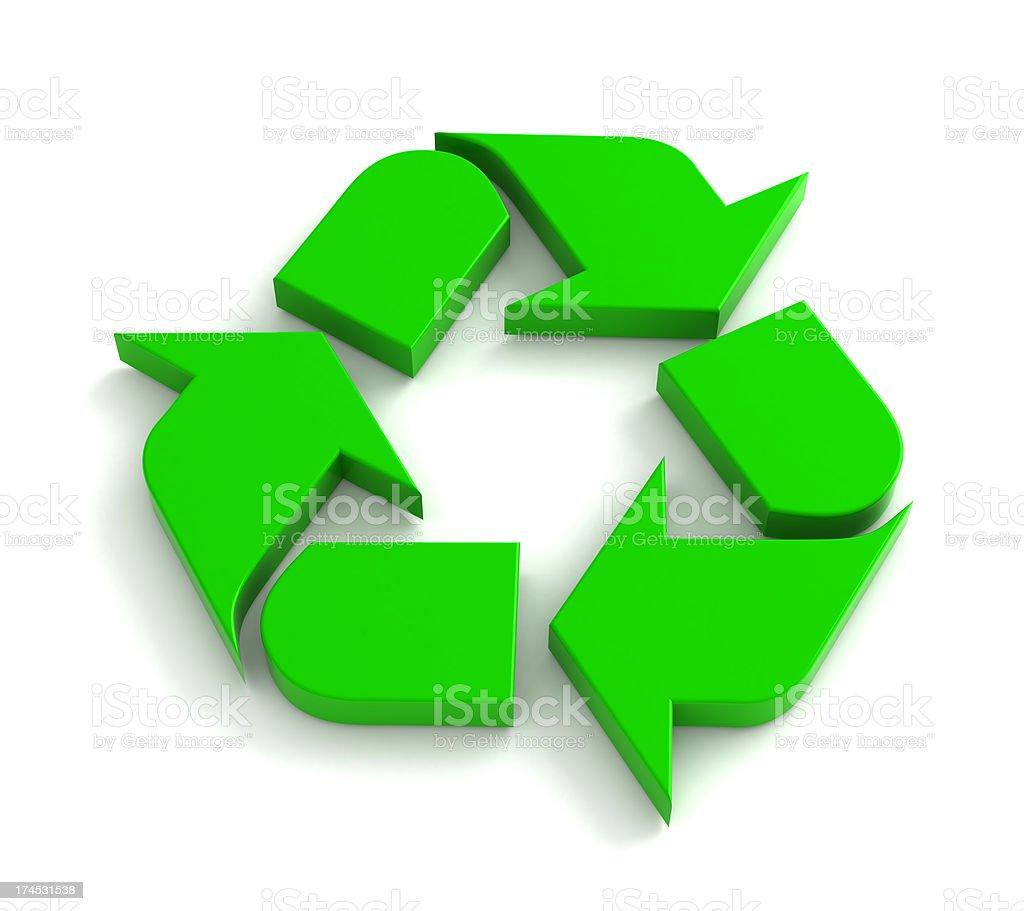 3d Recycle Symbol stock photo