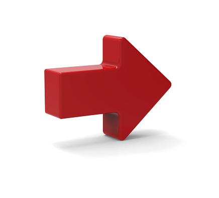 1023882582 istock photo 3d Red arrow symbol 466500612