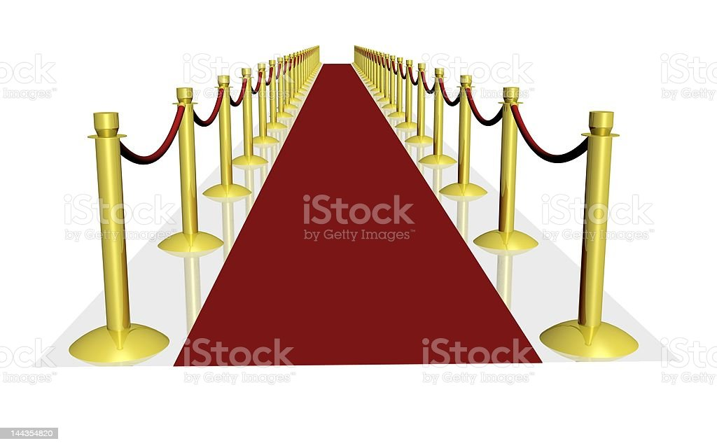 3d red carpet royalty-free stock photo