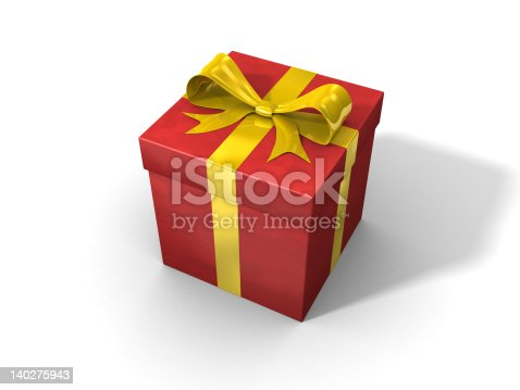 istock 3d red gift box 140275943