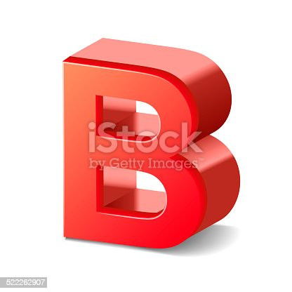 istock 3d red letter B 522262907