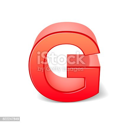 istock 3d red letter G 522247849