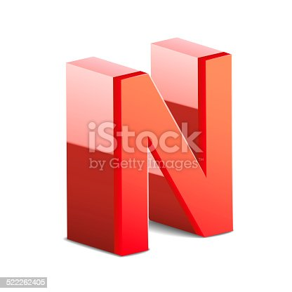 istock 3d red letter N 522262405