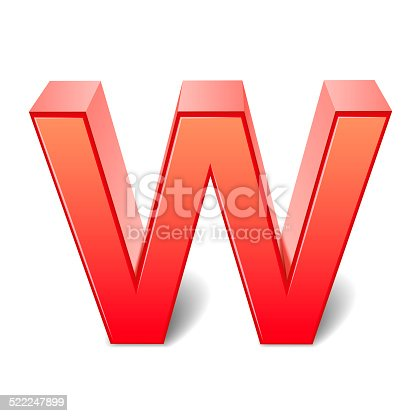 istock 3d red letter W 522247899