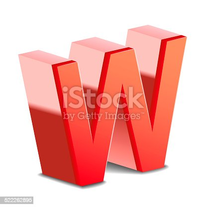 istock 3d red letter W 522262895