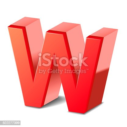 istock 3d red letter W 522277399