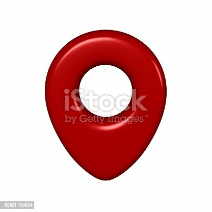 1151956281 istock photo 3d red map pin sign location icon with city map on white background. 3d render illustration. 806170404