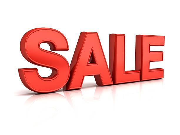 3d red sale word - gran inauguración fotografías e imágenes de stock