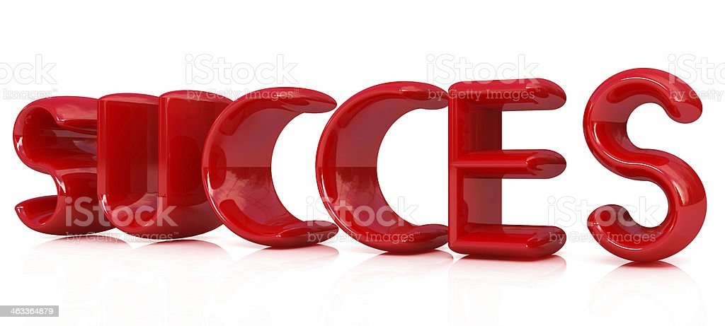 3d red text 'succes' stock photo