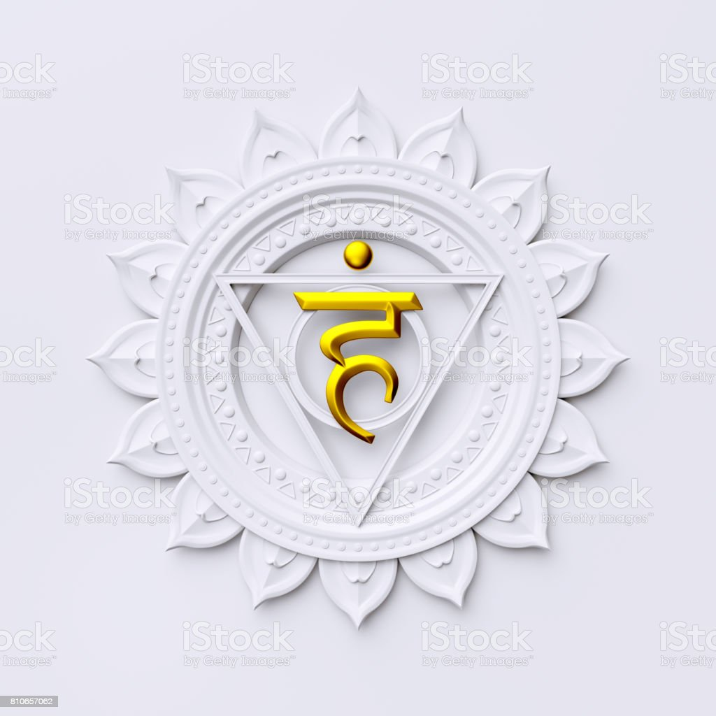 3d render, 3d illustration, abstract chakra symbol, modern digital illustration, sacred geometrical mandala design stock photo