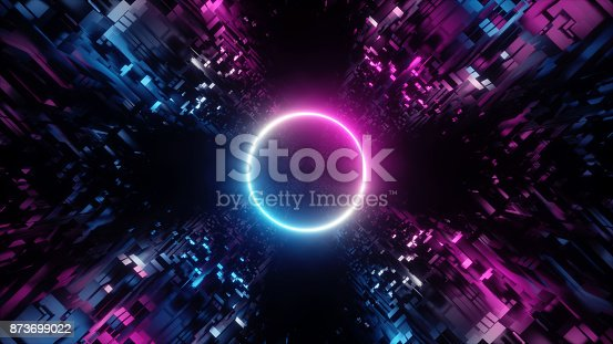 istock 3d render, abstract digital background, big data, quantum computer network, cyber safety 873699022