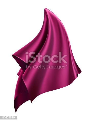 810667324 istock photo 3d render, abstract flying cloth, purple, fuchsia, pink, unveil, dynamic falling drapery, textile isolated on white background 816248994