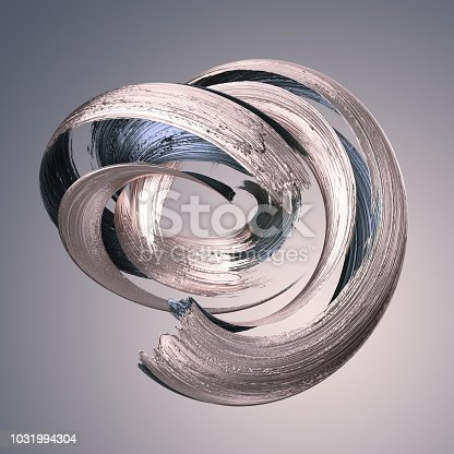 921375446istockphoto 3d render, abstract metallic brushstroke, silver paint smear, splashing platinum shape, rose gold, shiny foil, ribbon, isolated clip art 1031994304