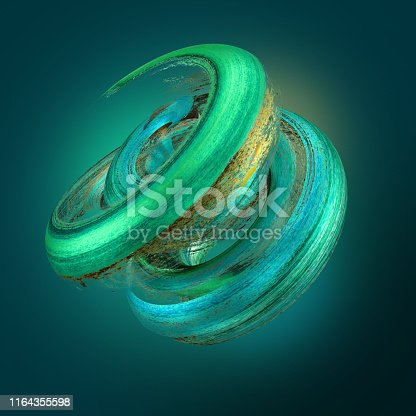 929915344istockphoto 3d render, abstract neon background with grungy brush strokes, twisted mint gold paint splashing, object isolated on emerald green 1164355598