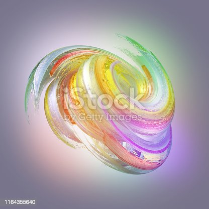 929915344istockphoto 3d render, abstract neon background with grungy brush strokes, twisted multicolor paint splashing, isolated object 1164355640