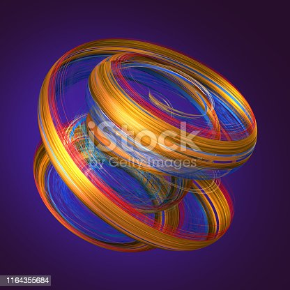 929915344istockphoto 3d render, abstract neon background with grungy brush strokes, twisted yellow red paint splashing, object isolated on violet 1164355684