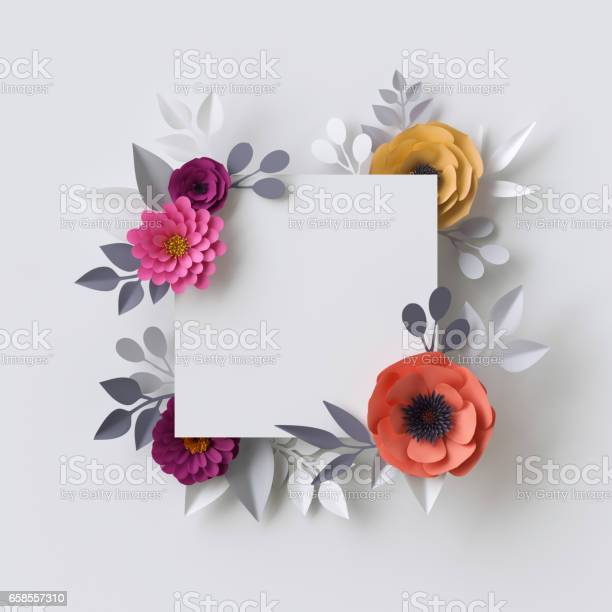 3d render abstract paper flowers floral background blank square frame picture id658557310?b=1&k=6&m=658557310&s=612x612&h=9n3 cusjzpfgu4uips4qr fa4zitgu15sjec83abxoy=