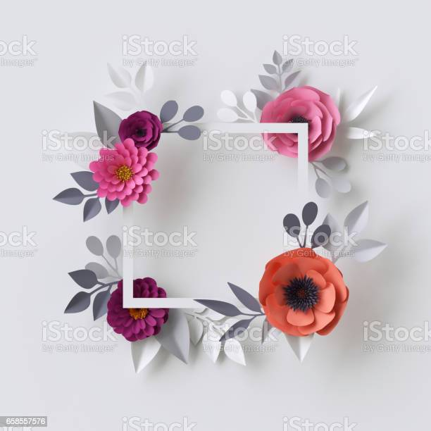 3d render abstract paper flowers floral background blank square frame picture id658557576?b=1&k=6&m=658557576&s=612x612&h=bqrfhcqdufkelldfr00ohpxsftyyx5qvso4fmvz6buy=