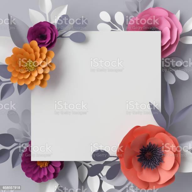 3d render abstract paper flowers floral background blank square frame picture id658557918?b=1&k=6&m=658557918&s=612x612&h=8nlj5bca4xgsvrpokibnwiykp9enc631mv9 dyeu8gg=