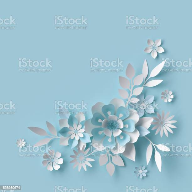 3d render abstract white paper flowers pastel blue background floral picture id658560674?b=1&k=6&m=658560674&s=612x612&h=gv 1cquvr peuacq1b8xcy4w3vjkmmmakpdwgvaxjfw=