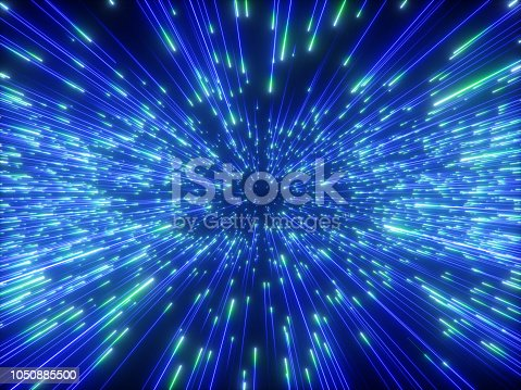 istock 3d render, big bang, galaxy, abstract cosmic background, celestial, beauty of universe, speed of light, fireworks, neon glow, stars, cosmos, ultraviolet infrared light, outer space 1050885500