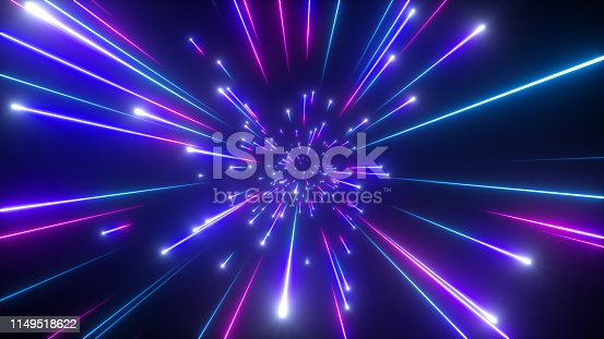 istock 3d render, big bang, galaxy, abstract cosmic background, celestial, beauty of universe, speed of light, fireworks, neon glow, stars, cosmos, ultraviolet infrared light, outer space 1149518622
