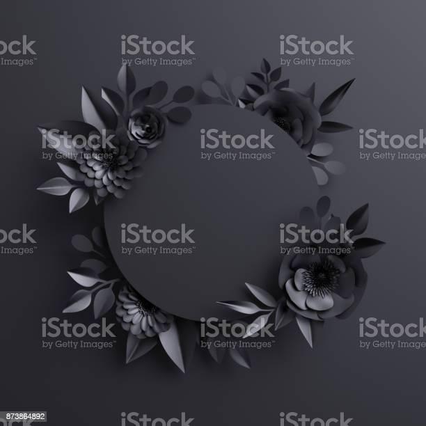3d render black paper flowers botanical background blank round banner picture id873864892?b=1&k=6&m=873864892&s=612x612&h=frp1a5u3bzjecc3uzzk1uumywblyhg99epsrsdavpyy=