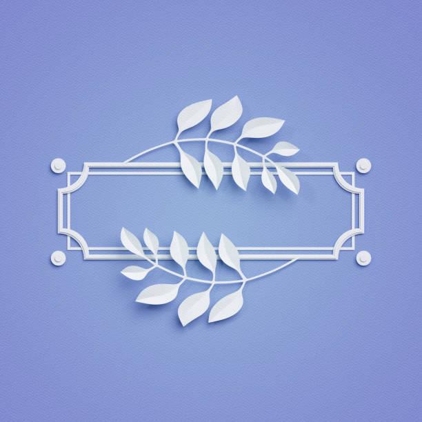 3d fond artisanat de papier rendu, bleu, feuilles de palmier, image postérisée, bannière, couverture et étiquette - titre mondial photos et images de collection