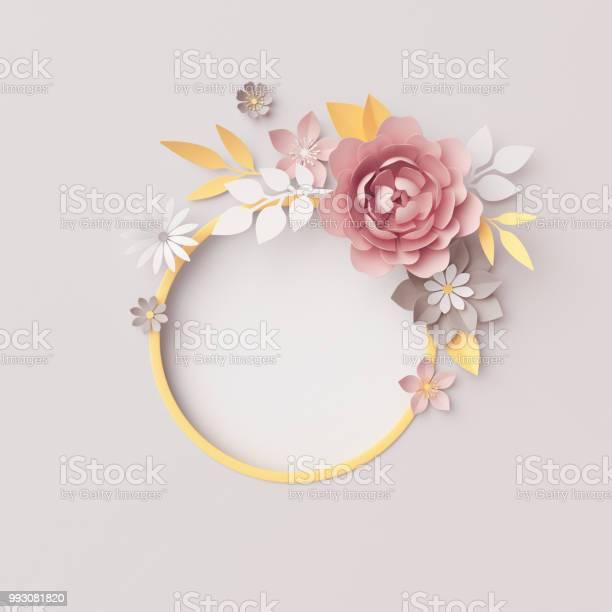 3d render botanical round frame gray background pastel paper flowers picture id993081820?b=1&k=6&m=993081820&s=612x612&h=mydjzgsly0ilfpgmxm7wrgkm6fznjybmjezcaqmnpm4=