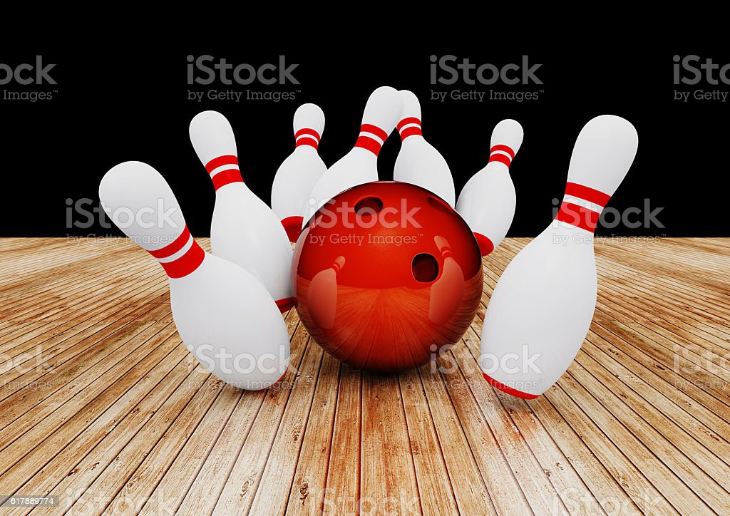 3d Render Bowling stock photo
