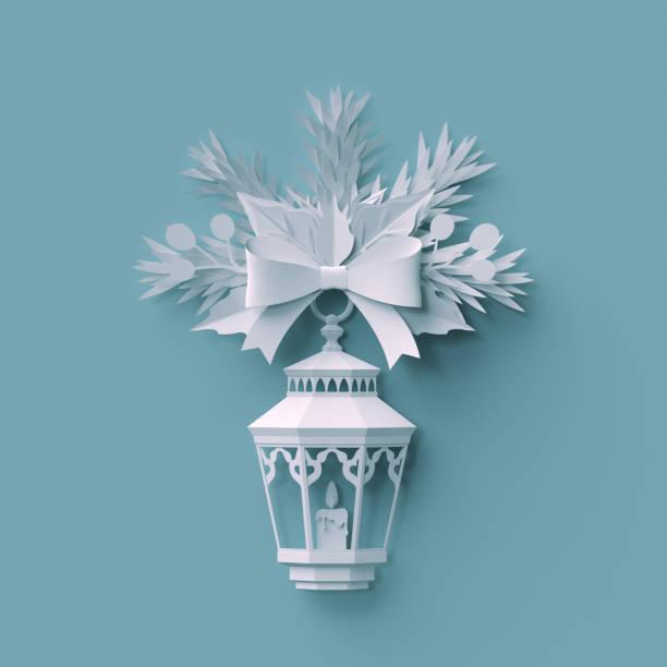 3d render, weihnachten hintergrund, weißes papier geschnitten, festliche elemente, urlaub dekoration, grußkarte - weihnachtssterne aus papier stock-fotos und bilder