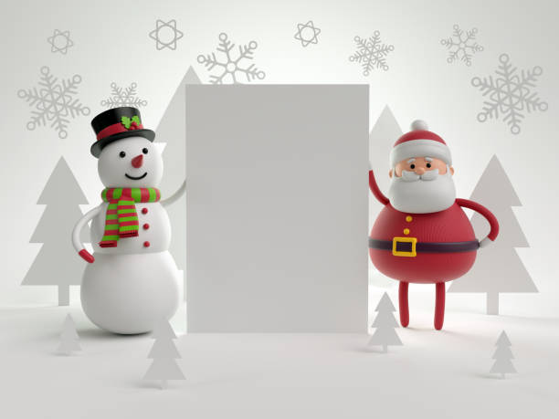 3d render christmas characters snowman and santa claus holding blank picture id879177178?b=1&k=6&m=879177178&s=612x612&w=0&h=twhpaw8dxlfoeb 2cozu0wst4ahxsz3nsmnomzg6una=