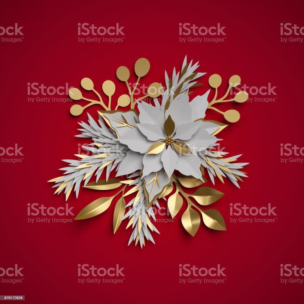 3d render christmas flowers festive bouquet poinsettia flat paper 3d render christmas flowers festive bouquet poinsettia flat paper craft clip art mightylinksfo