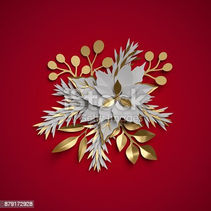 3d render christmas flowers festive bouquet poinsettia flat paper 3d render christmas flowers festive bouquet poinsettia flat paper craft clip art isolated on red background stock photo more pictures of arrangement mightylinksfo