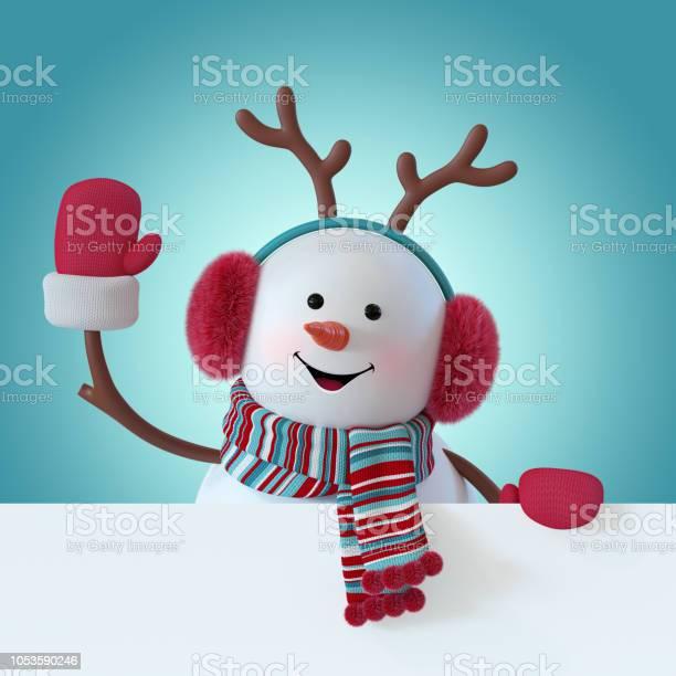 3d render christmas snowman character furry headphones reindeer picture id1053590246?b=1&k=6&m=1053590246&s=612x612&h=mzom fbpdi ukiuw3klzomakjkrhsmbiageofmcwarw=
