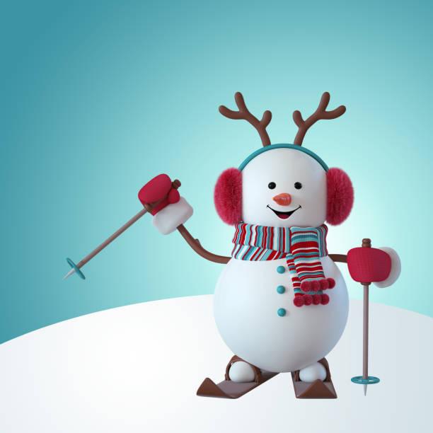 3d render christmas snowman character skiing outdoor activity wearing picture id1053590170?b=1&k=6&m=1053590170&s=612x612&w=0&h=djiykliczcyq0pvoyfa9qkgvjyyrsgv yna akwwj8q=